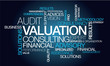 Valuation consulting services expert finance word tag cloud