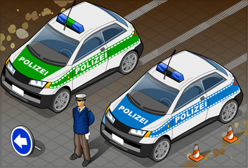 Isometric German Police Car