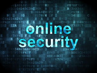 Security concept: Online Security on digital background