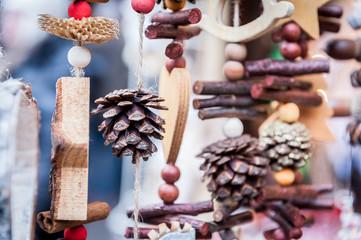Décors naturels marché de Noël