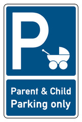 parent und child parking only stroller car park