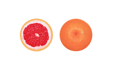 Grapefruit in cut