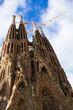 Sagrada Familia cathedral facade, Barcelona, Spain