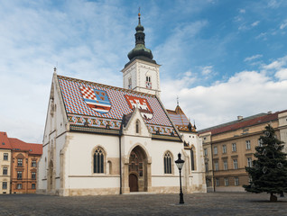 Church of Saint Marc in Zagreb, Croatia