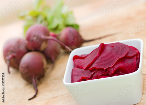 Slices of beetroot