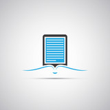 E-Book Reader Icon Design