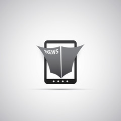Tablet Icon Design - Online News