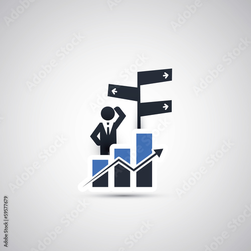 Business, Decision Making Icon Concept Design