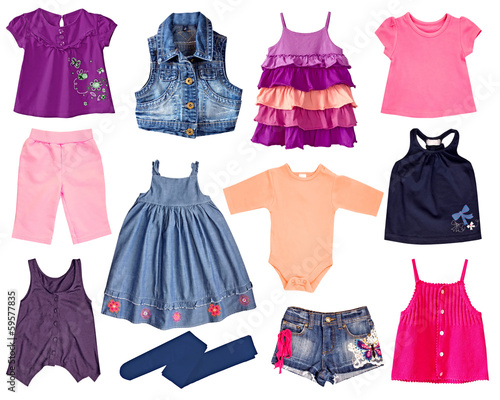 Collage kid clothes.