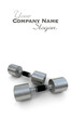 Brushed metallic dumbbells
