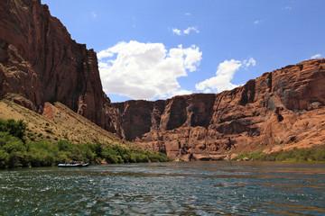 raft sur le Colorado, arizona