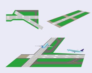 Set. Runways