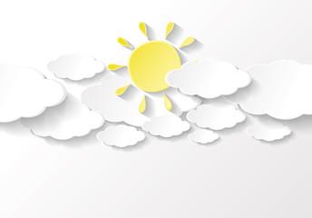 fond nuages et soleil