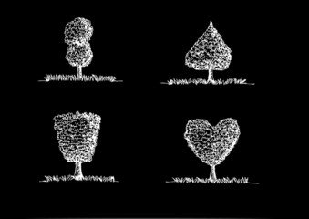Set of Vector trees with leaves