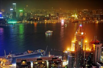 Kowloon at night