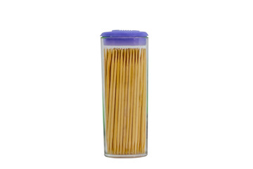 toothpicks in a plastic container 2