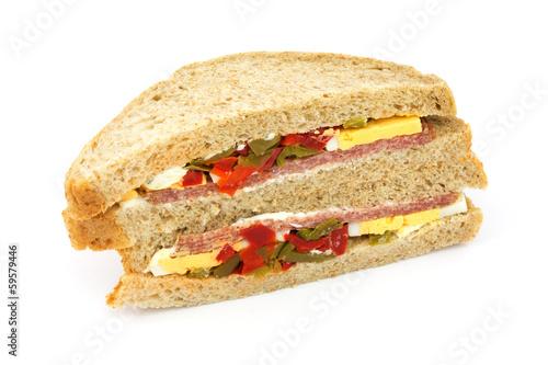 Fotobehang Picknick Sandwich