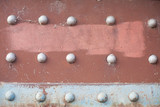 rusted background with rivets