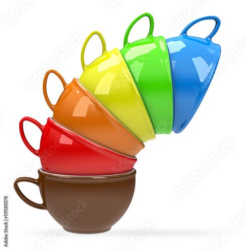 Der Kaffeetassen-Turm