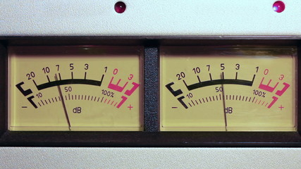 stereo decibel meters - part of sound equipment