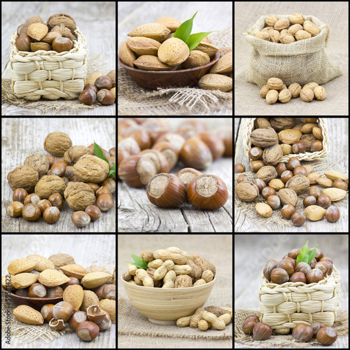 collage with nuts