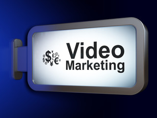 Business concept: Video Marketing and Finance Symbol on