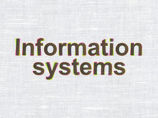 Information concept: Information Systems on fabric texture