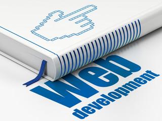 Web development concept: book Mouse Cursor, Web Development on
