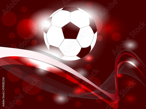 Soccer ball with abstract background - vector