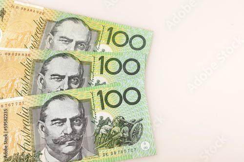 Poster 100 australische Dollar-Scheine