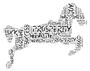 Horse zodiac Chinese New Year 2014 word collage.