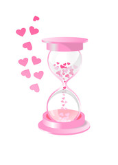 Песочные часы с сердечками вместо песка