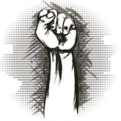 The raised fist