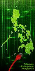 Philippinen mit Grenzen im neuen Netzwerkdesign