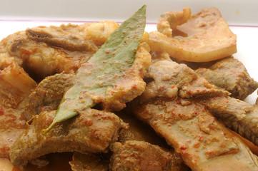 Soffritto di maiale , pancetta , fegato e costina - Calabria