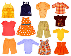 Collage children cloth