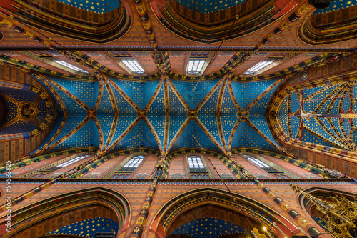 Krakau, St Mary's Church, the Ceiling