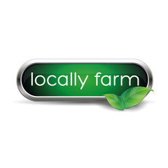 Local farm food label, badge or seal