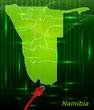 Namibia mit Grenzen in dem neuen Netzwerkdesign