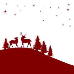Waldweihnacht in rot