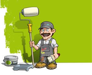 Handyman - Wall Painter Gray Uniform