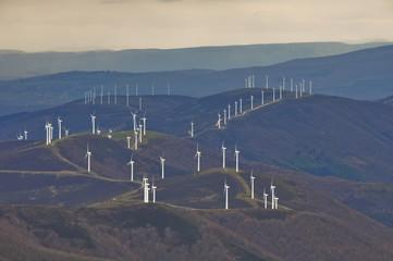 Wind turbines farm, Basque Country (Spain)