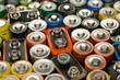 Leinwanddruck Bild - Verbrauchte Batterien