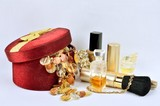 Women's jewelry, perfumes and cosmetics