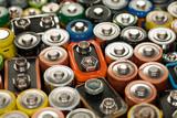Verbrauchte Batterien