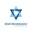 Star technology logo template