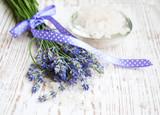 Fototapety lavender  salt, and fresh flower