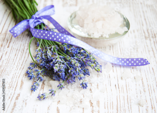 lavender  salt, and fresh flower