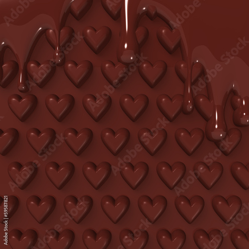 MeltedHeart-PatternChocolateForBackground