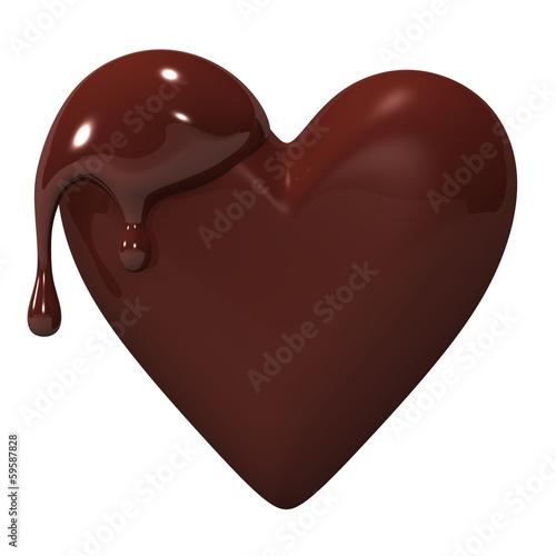 MeltedHeart-shapedChocolate